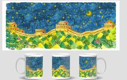 Camping At The Great Wall Mug