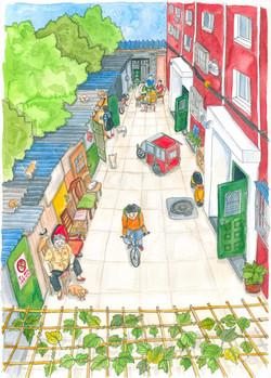 Liuba Draws Backyard Illustration