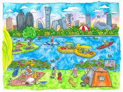 Chaoyang Park Liuba Draws