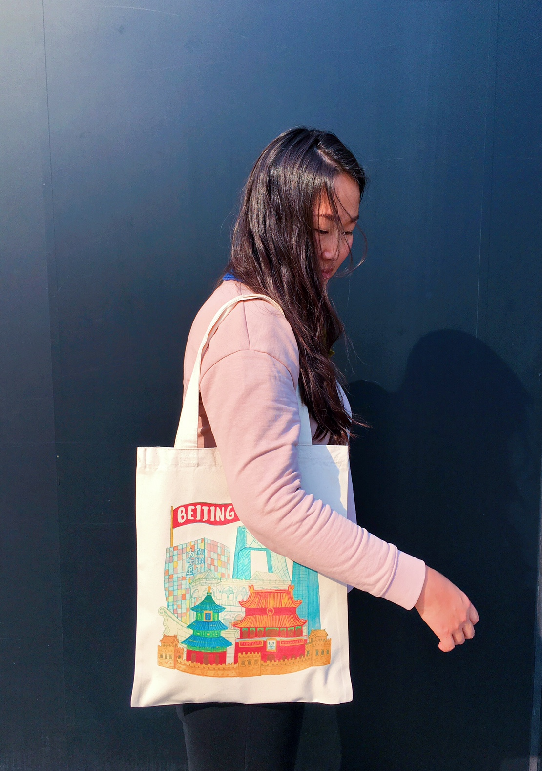 Beijing Tote Bag Liuba Draws