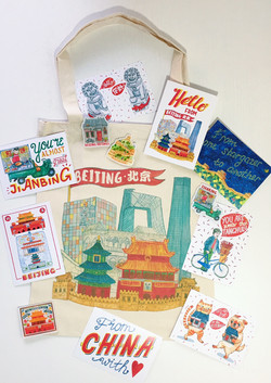 Beijing Tote Bag Liuba Draws