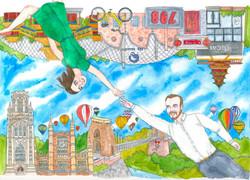 Liuba Draws Portrait Illustration