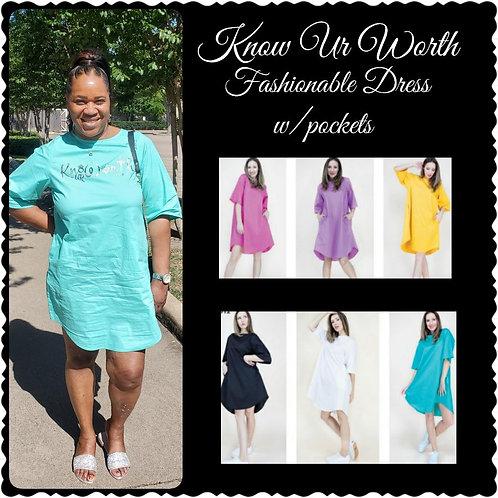 Know Ur Worth Fashionable Dress