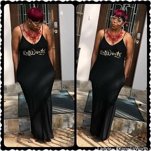 Know Ur Worth Maxi Dress