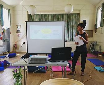 Me talking about 'food & mood' at my yog