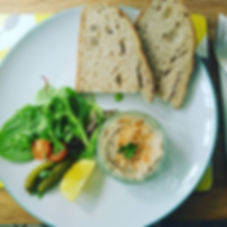 Delicious mackerel pate made by my frien