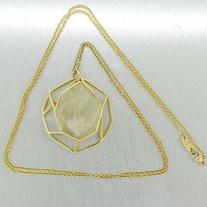 Ippolita 18K Yellow Gold Geometric Quartz Custom Made 35.5in Necklace 1/1 RARE