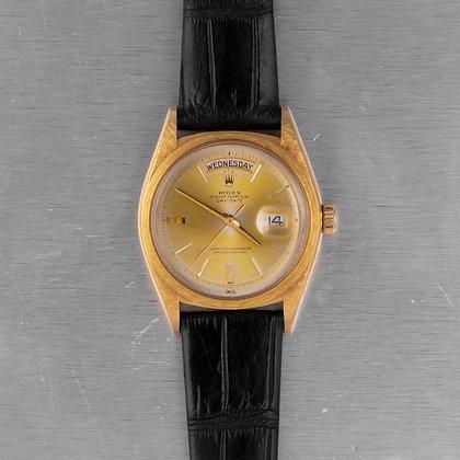 1963 Rolex Day-Date President R.1806 18k Yellow Gold Pie-Pan Doorstop 36mm Watch