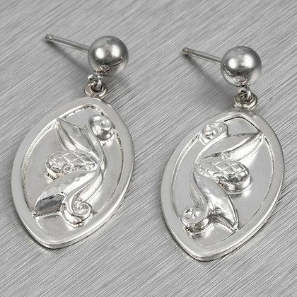 Georg Jensen Laurence Foss 925 Sterling Silver Pine Cone Dangle Earrings 429B