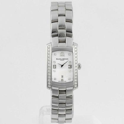Baume & Mercier MOP Diamond Hampton Diamond Dial AND Bezel 20mm 65504 Watch