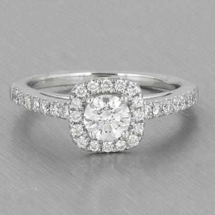 18k White Gold Faint Pinkish Brown Solitaire Diamond Ring 1.05ctw Size 7 GIA