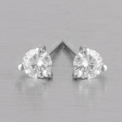 Kwiat Platinum 950 Tiara Diamond Stud Earrings 0.33ctw F VS2 w/ Pouch RET $1,500