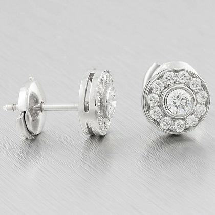 Tiffany & Co. Platinum Circlet Diamond Halo Earrings 0.53ctw F VVS2