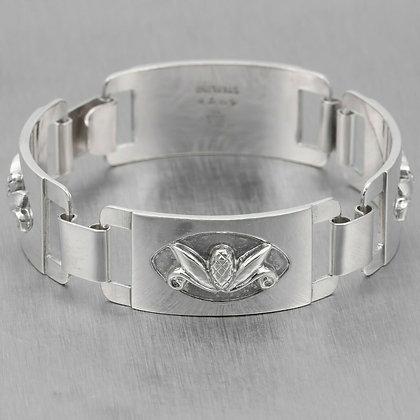 Georg Jensen USA Laurence Foss 925 Sterling Silver Acorn Pine Cone Bracelet 407B
