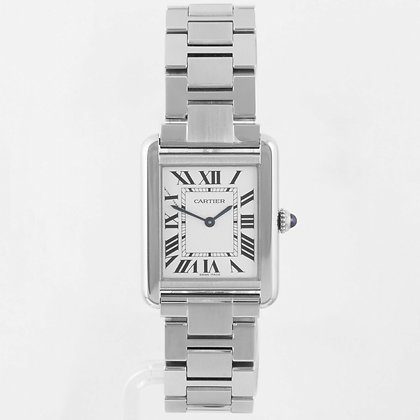 2012 Cartier Tank 3170 Solo Stainless Steel W5200013 BOX & PAPERS 24mm Watch
