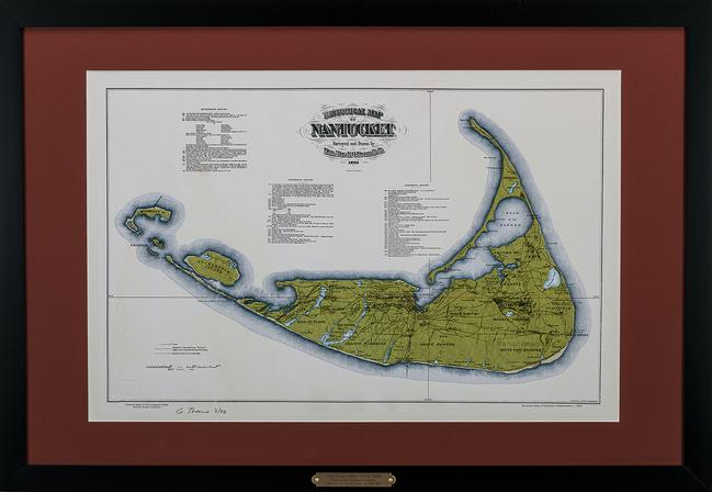 The Swain Map of Nantucket, Massachusetts, c. 1886