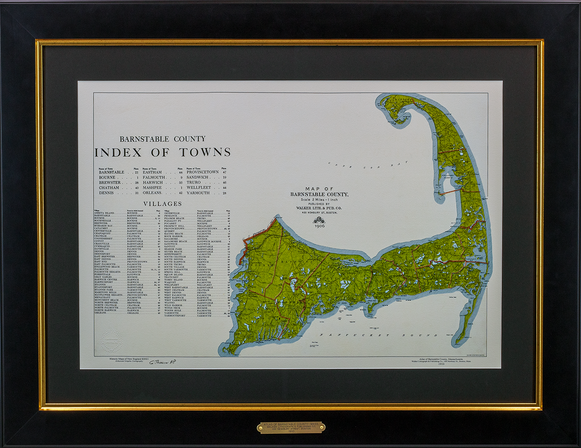 Atlas of Barnstable County, 1910 – Index of Towns and Villages