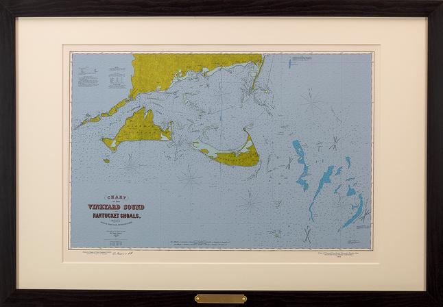 Chart of the Vineyard Sound and Nantucket Shoals, Mass. George Eldridge, Hydrographer - 1864
