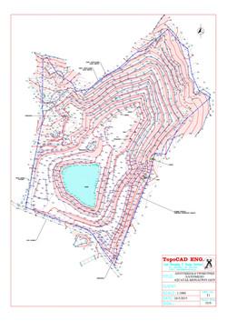 Contour map  for quarry