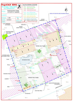 Detail Survey of an existing plot