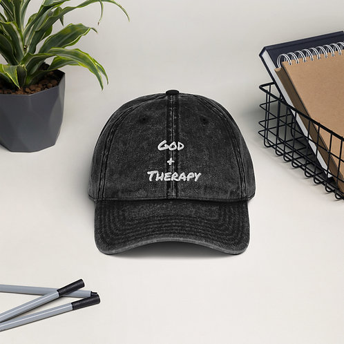 God + Therapy Vintage Cotton Twill Cap