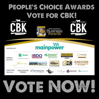 VOTE FOR CBK AT THE NORTH CANTERBURY BUSINESS AWARDS!