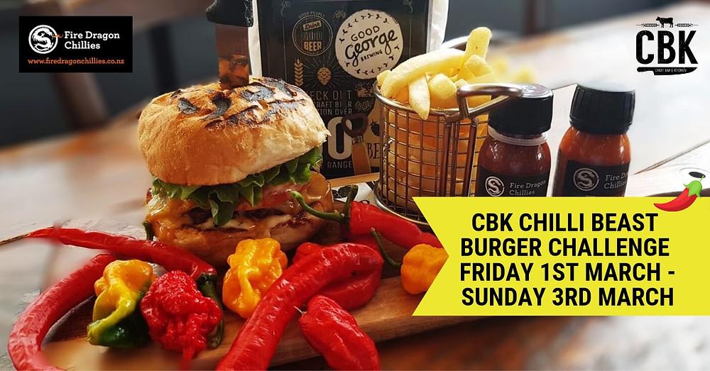 CBK Rotorua Chilli Beast Burger Challenge