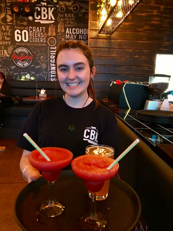 Georgia and her Margaritas!