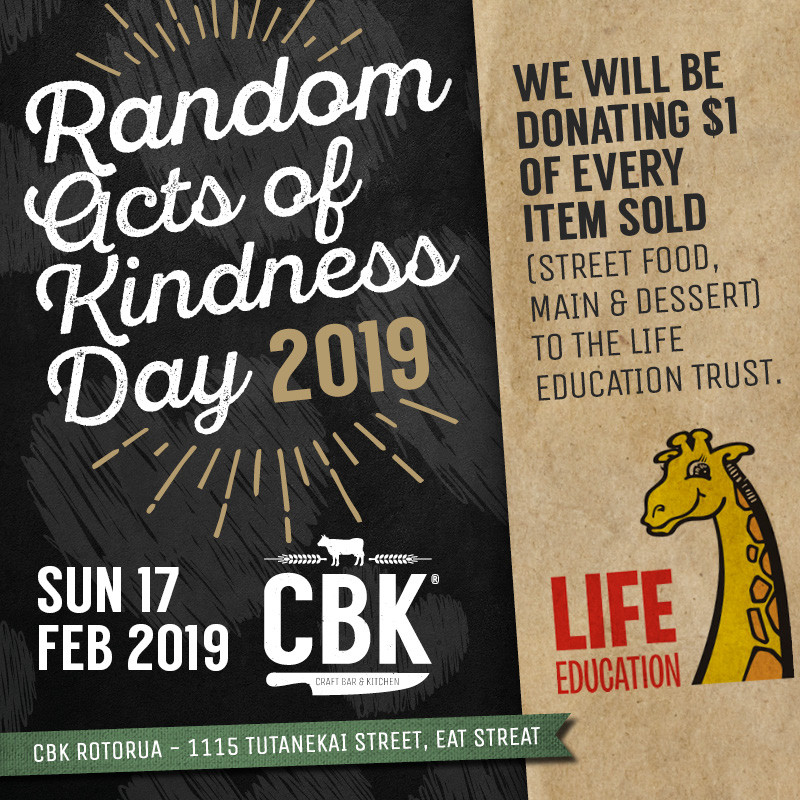 Kindness Day, $1 of every dish to Life Eduction