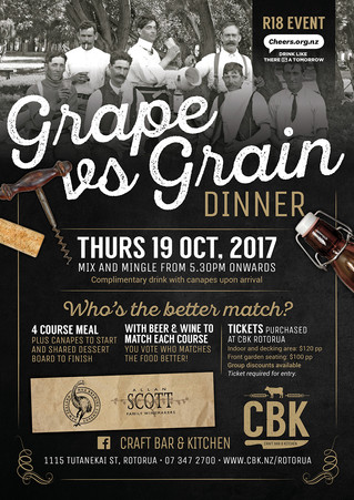Grape Vs Grain is Back at CBK Rotorua!