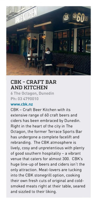 GREAT INTRO FOR CBK DUNEDIN IN HOSPO BIZ MAGAZINE!