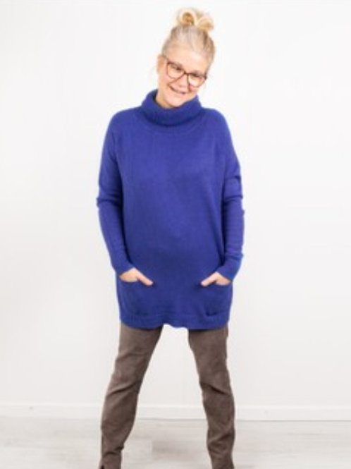 ANNA POLO NECK JUMPER - ROYAL BLUE