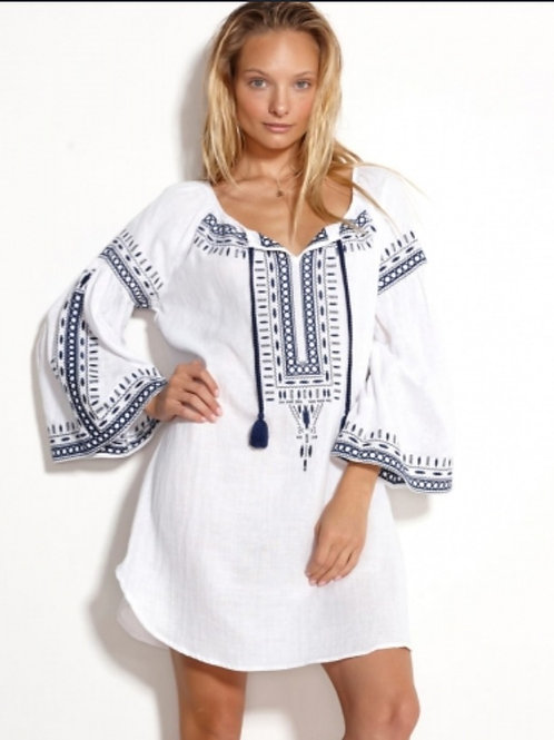 WATERCULT EMBROIDED TUNIC