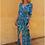 Thumbnail: BLUE IGUANA RUFFLE WRAP DRESS