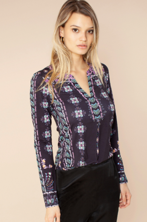 MIUCCIA BEADED JERSEY TOP