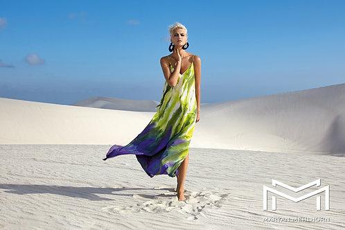 WATERFLOW MAXI DRESS