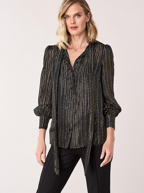 BLACK AND GOLD BLOUSE
