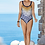 Thumbnail: CHARMLINE NAUTIC DUNES V-NECK SWIMSUIT