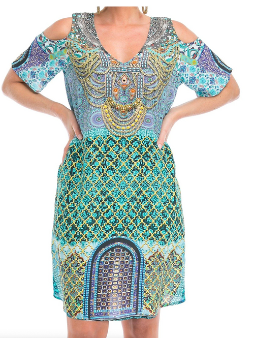 MARRAKECH V COLD SHOULDER DRESS