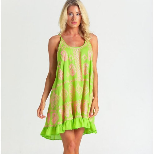 OLIVIA NEON LIME PINK