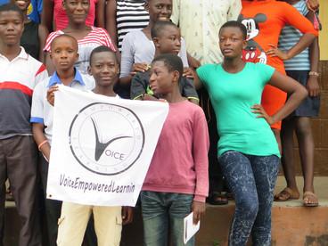 Students celebrating success