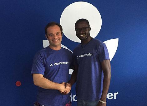 Jonathan Thurston visiting the World Reader offices in Ghana.