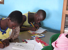 Students writing stories