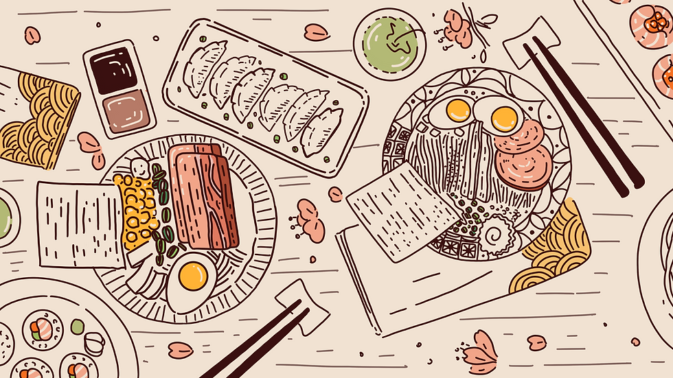 mixkit-feast-of-japanese-cuisine-includi