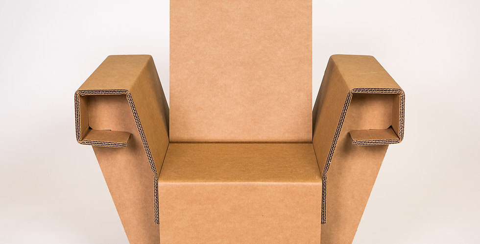 Cardboard Armchair Front View