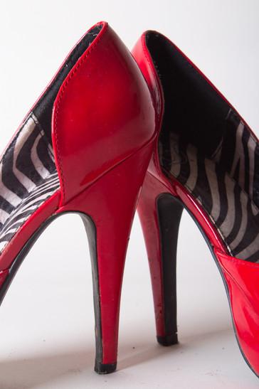 Heels, Hot Red