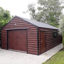 Rosewood Steel Garage