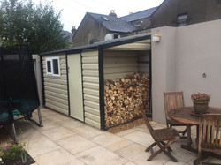 shed  with log space