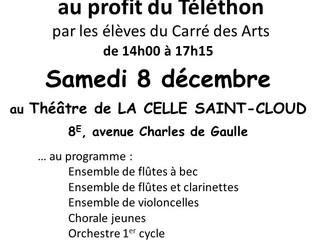 Concert du Carré des Arts en soutien au Téléthon dans le cadre de la Fête de l'hiver de la ville