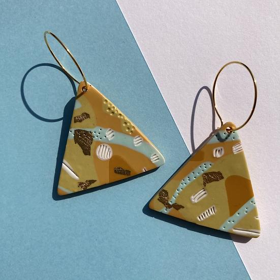 Sea & Sand Triangle Hoop Earrings